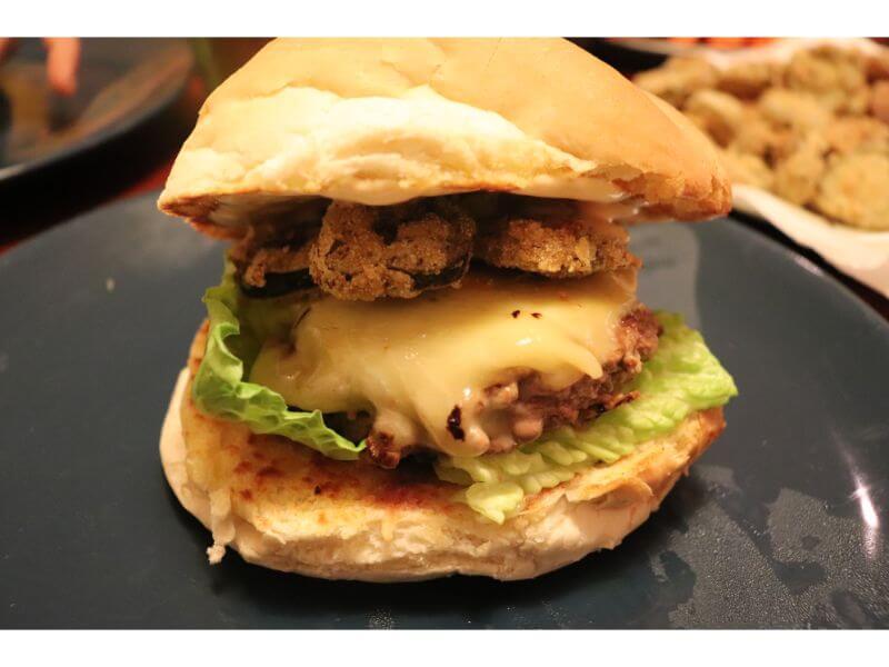 Pickle my Funny Bone Burger